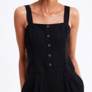 Zara Buttoned Jumpsuit With Straps